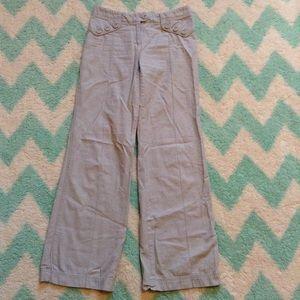 elevenses ANTHROPOLOGIE wide leg gray pants 4